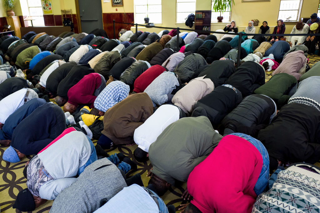 Muslims pray in mosque