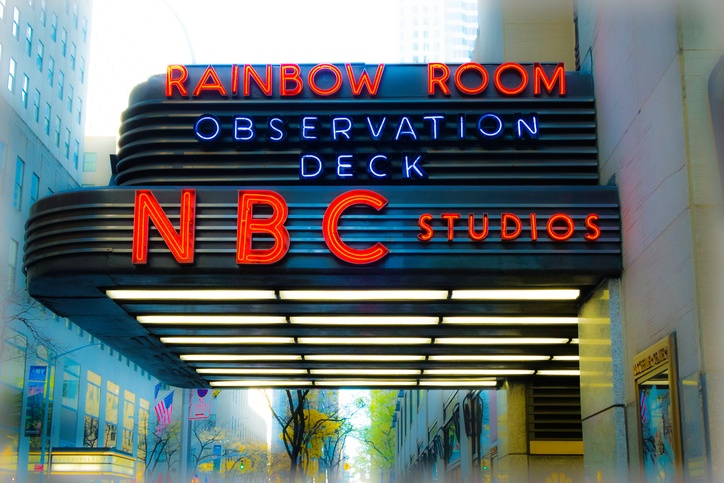 Neon signed entrance to Rainbow Room, New York, United States of America