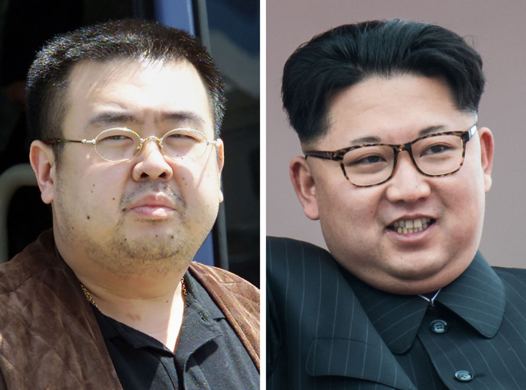 This combo shows a file photo (L) taken on May 4, 2001 of a man believed to be Kim Jong-Nam