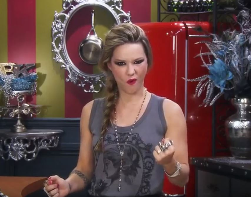 Punk rock singer and chef Nadia Giosi stars in Nadia G's Bitchin' Kitchen.