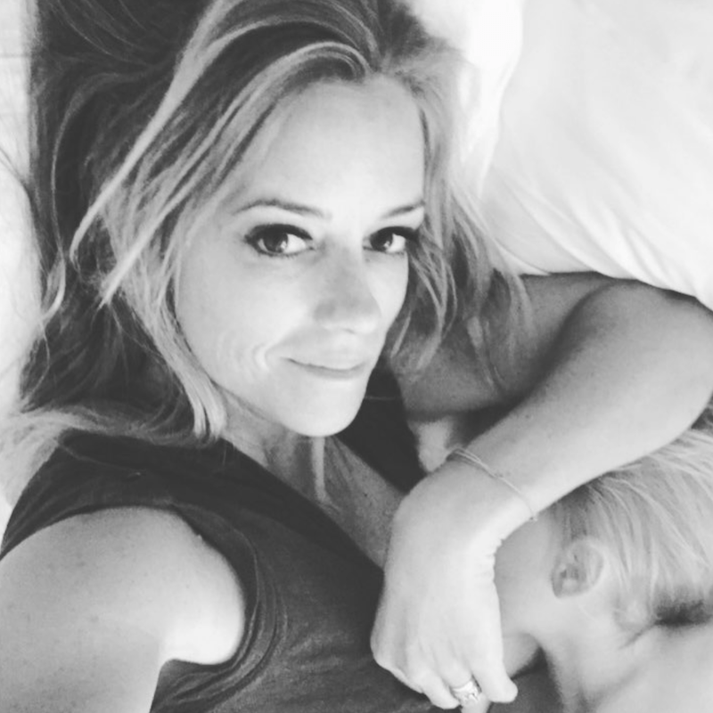 Nicole Curtis with her baby