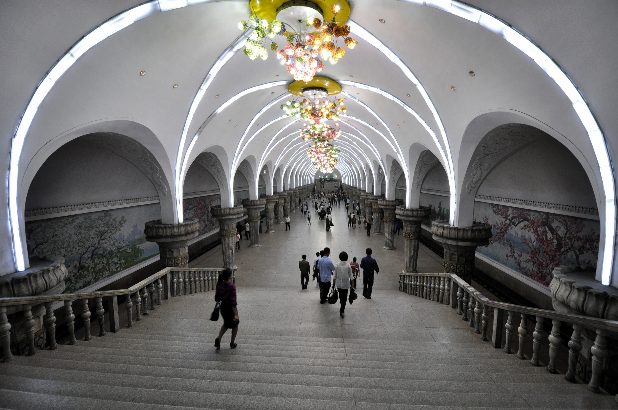 Metro in Pyongyang, North Korea.