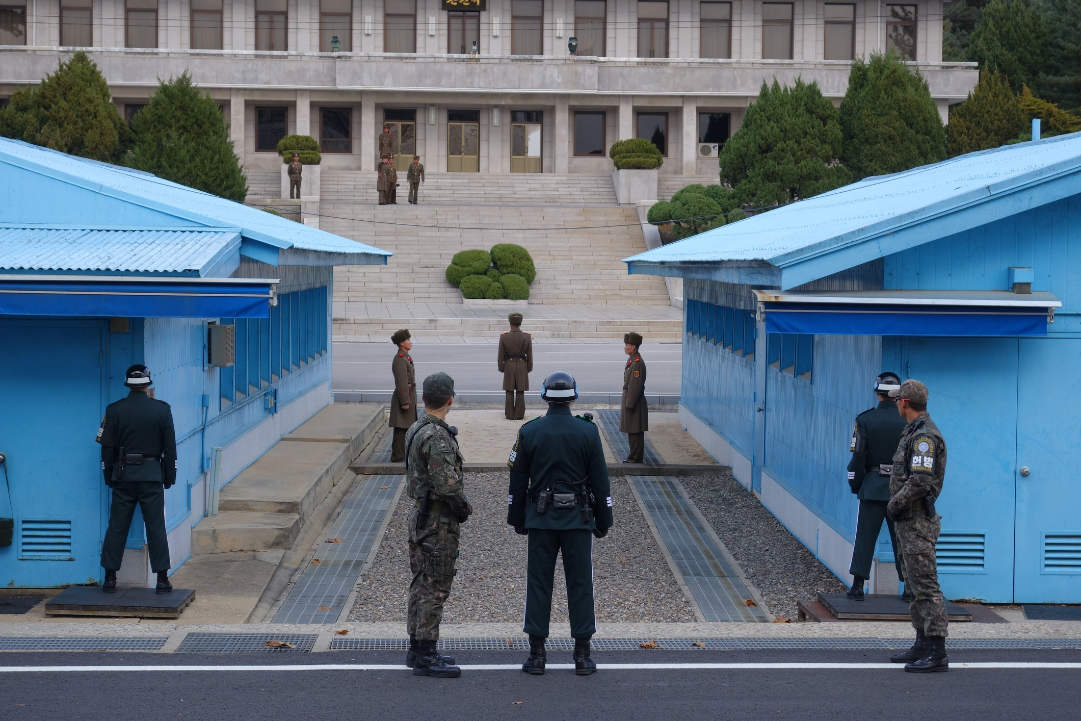 Security area North Korea border