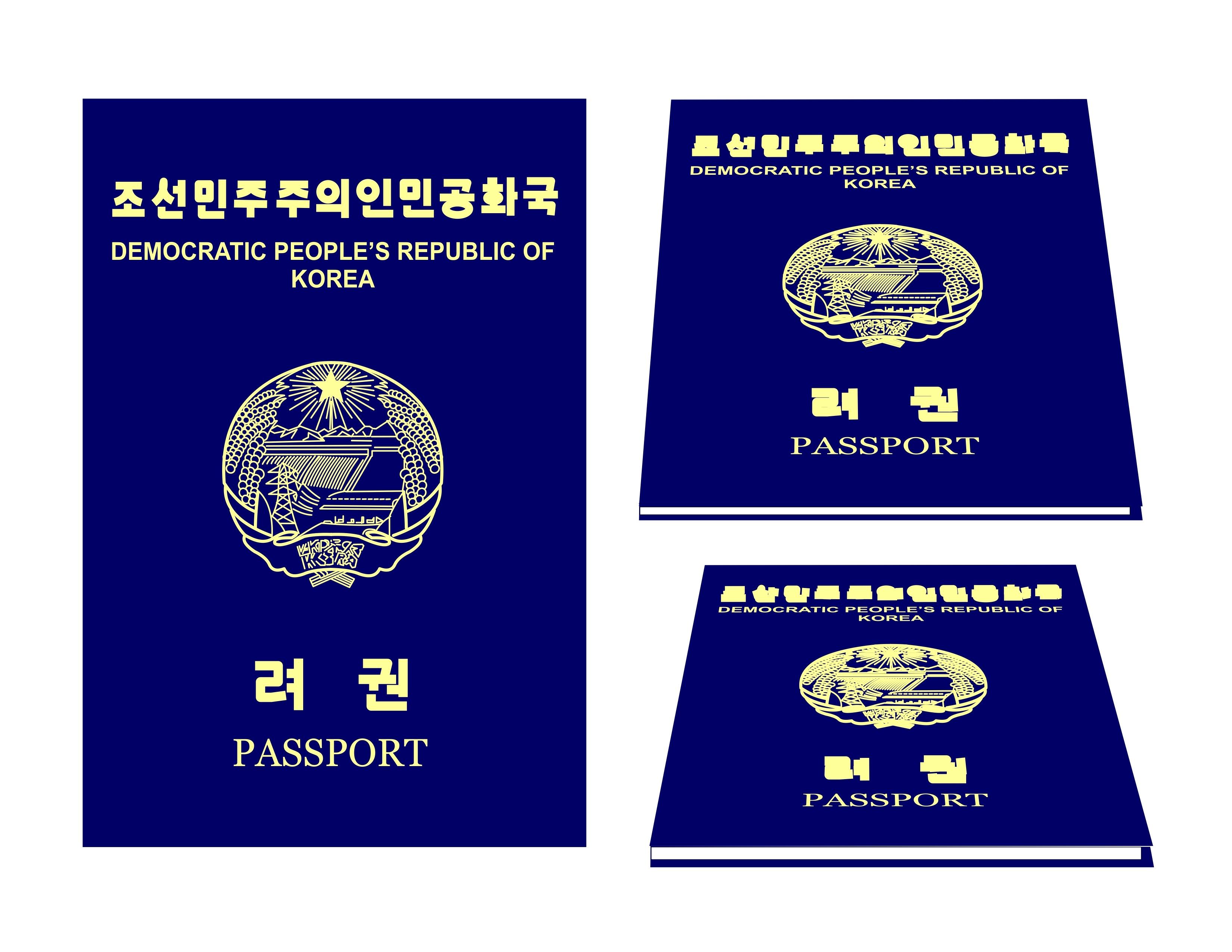 An illustration of a North Korean Passport
