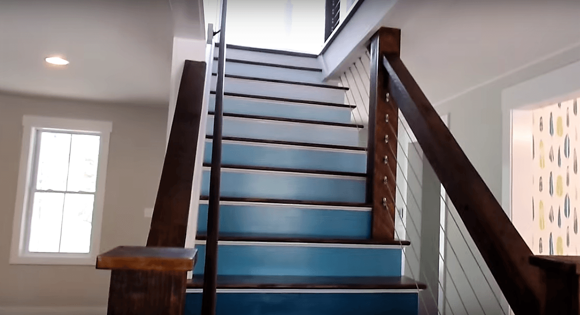 Blue Ombre Staircase