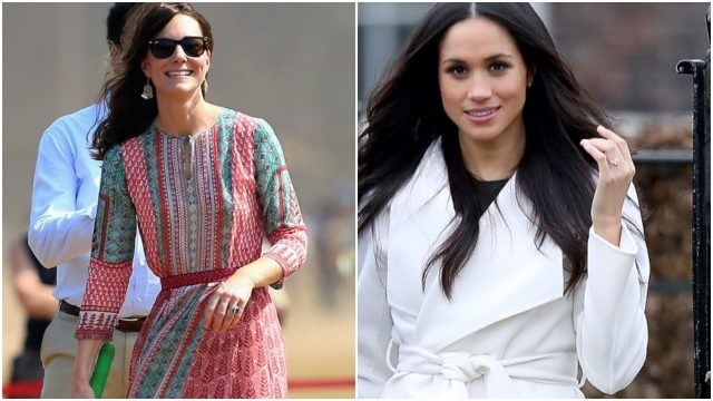 Kate Middleton and Meghan Markle in the outfits that broke the internet.