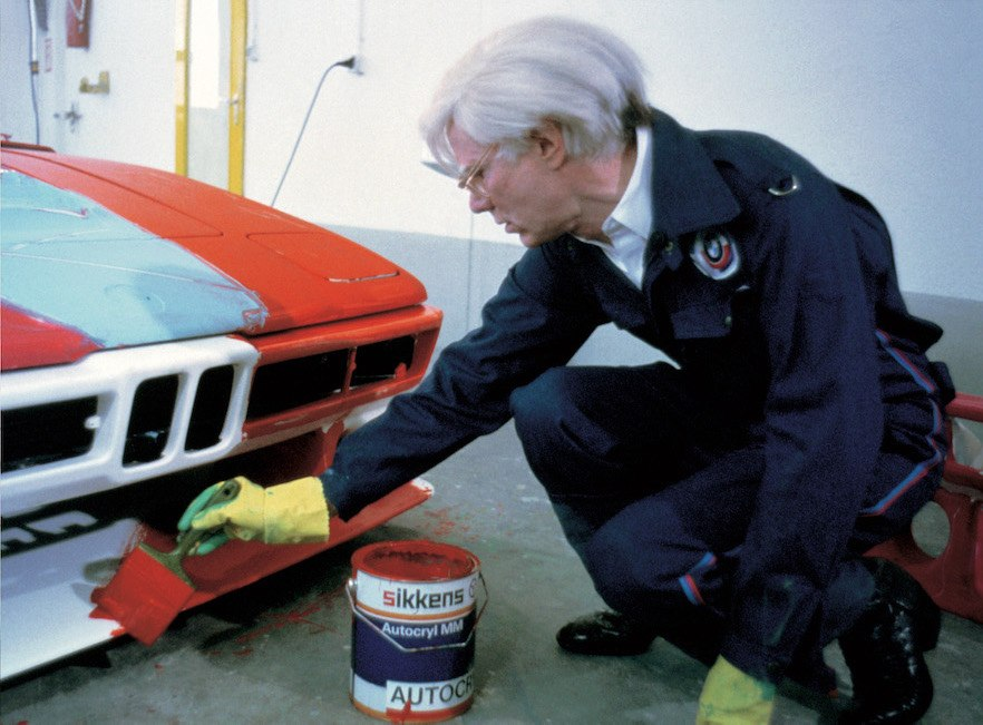 Andy Warhol with the BMW M1 Art Car