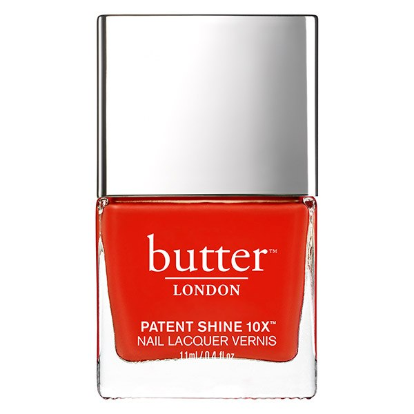 orange-red nail polish bottle