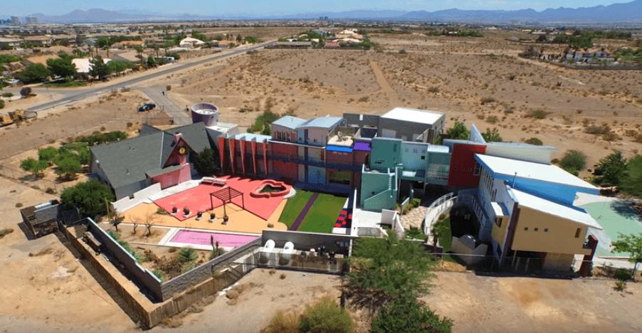 The multi-colored home of Penn Jillette