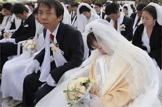 Brides and grooms sitting