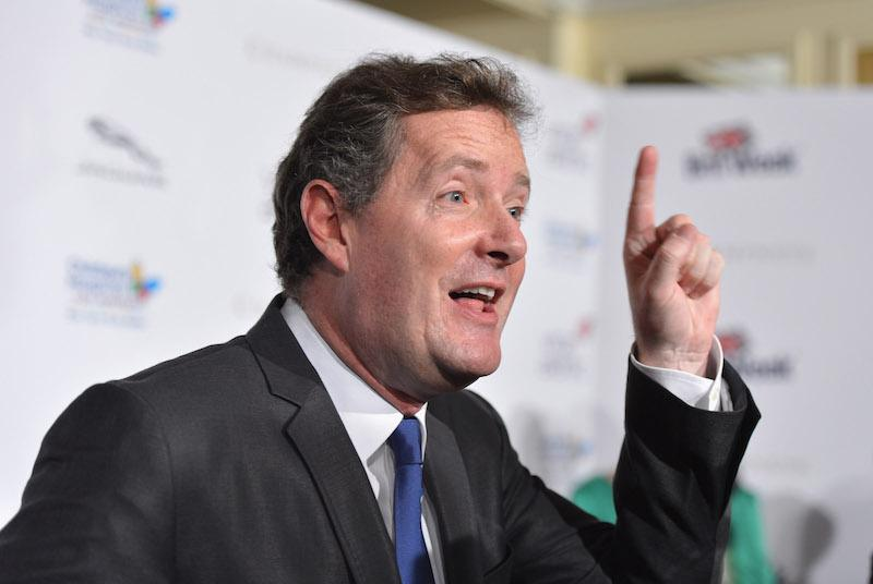 Piers Morgan holding up his finger