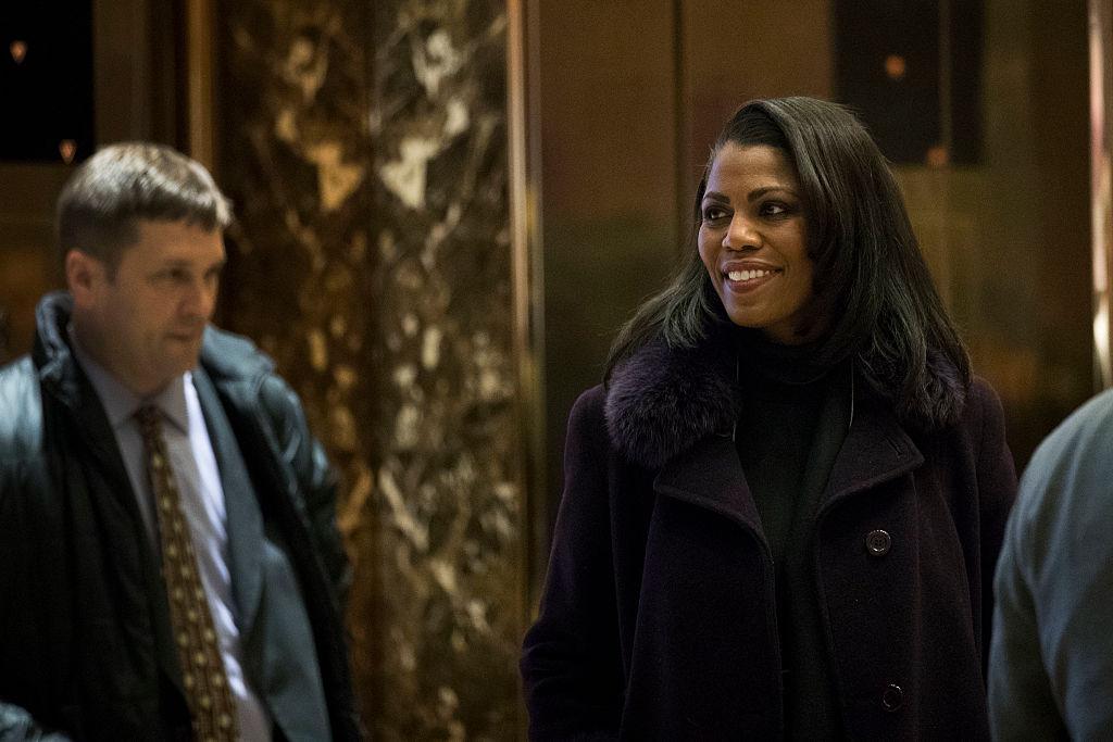 Omarosa Manigault arrives at Trump Tower