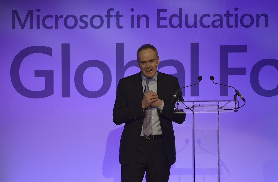 John Fallon CEO of Pearson attends the 'Microsoft in Education Global Forum'