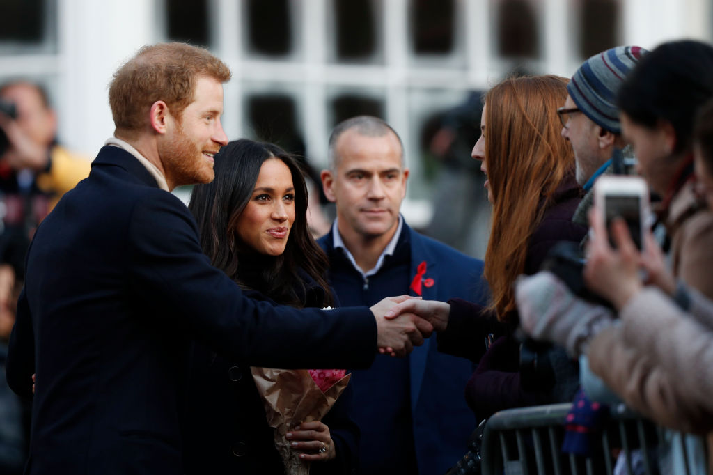 Britain's Prince Harry and his fiancee US actress Meghan Markle visit Nottingham Contemporary