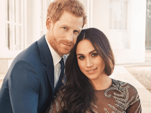 Prince Harry and Meghan Markle engagement photo.