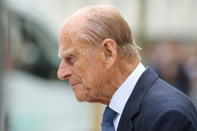A side view of Prince Phillip.