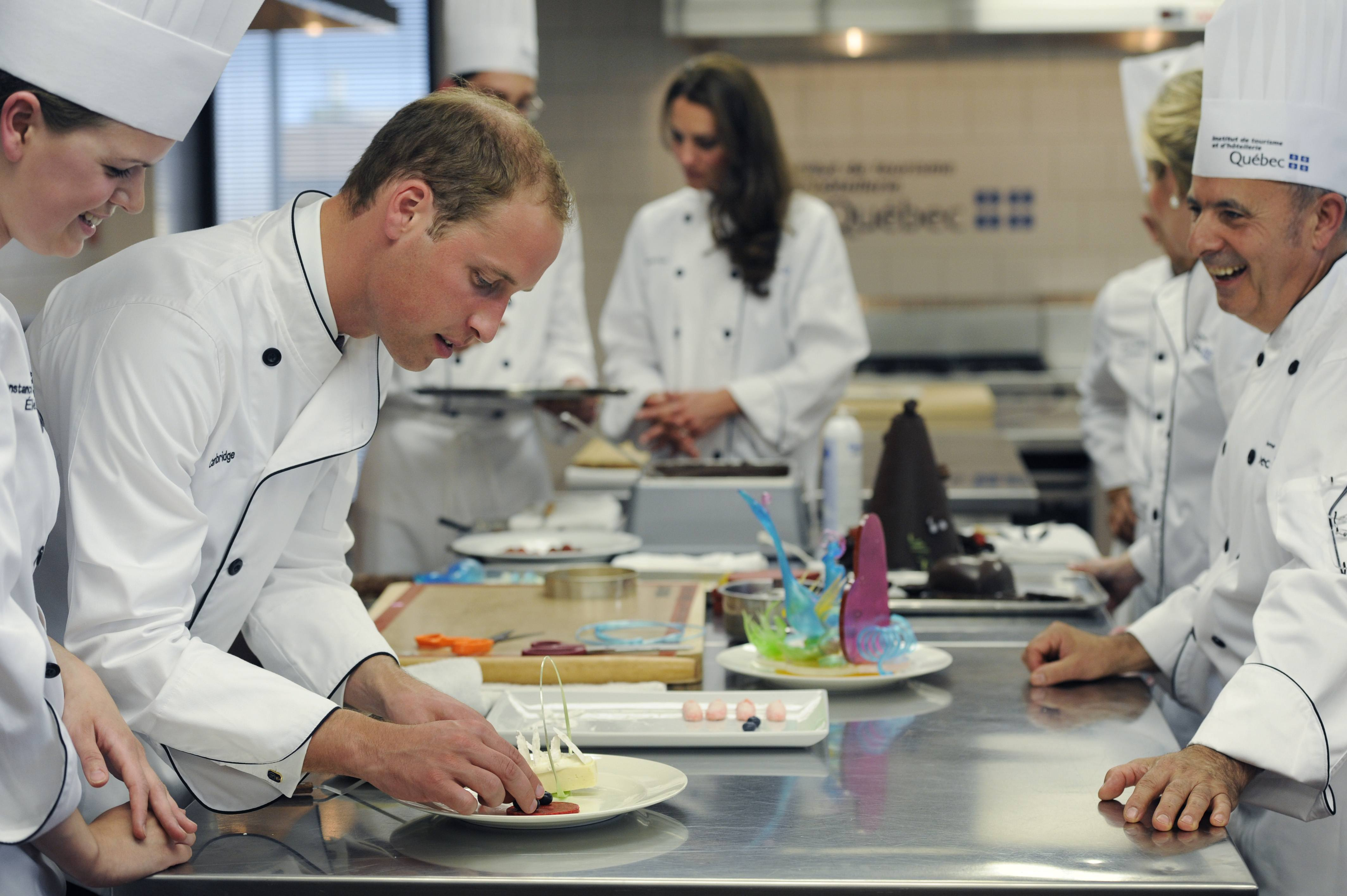 The Duke And Duchess Of Cambridge cooking