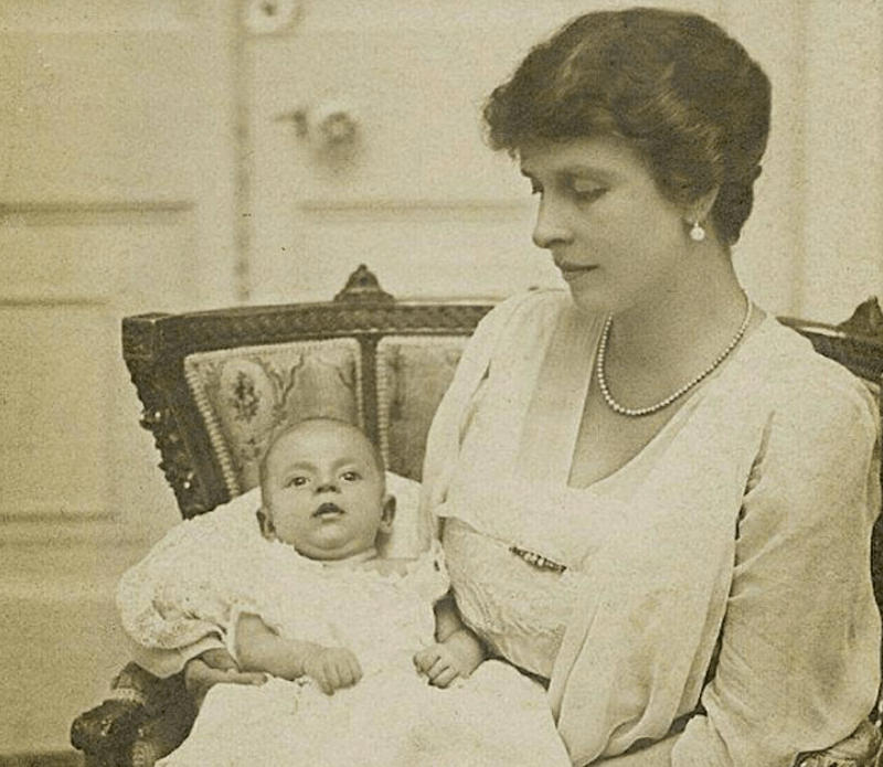 Princess Alice of Battenberg and her son, and Prince Philip