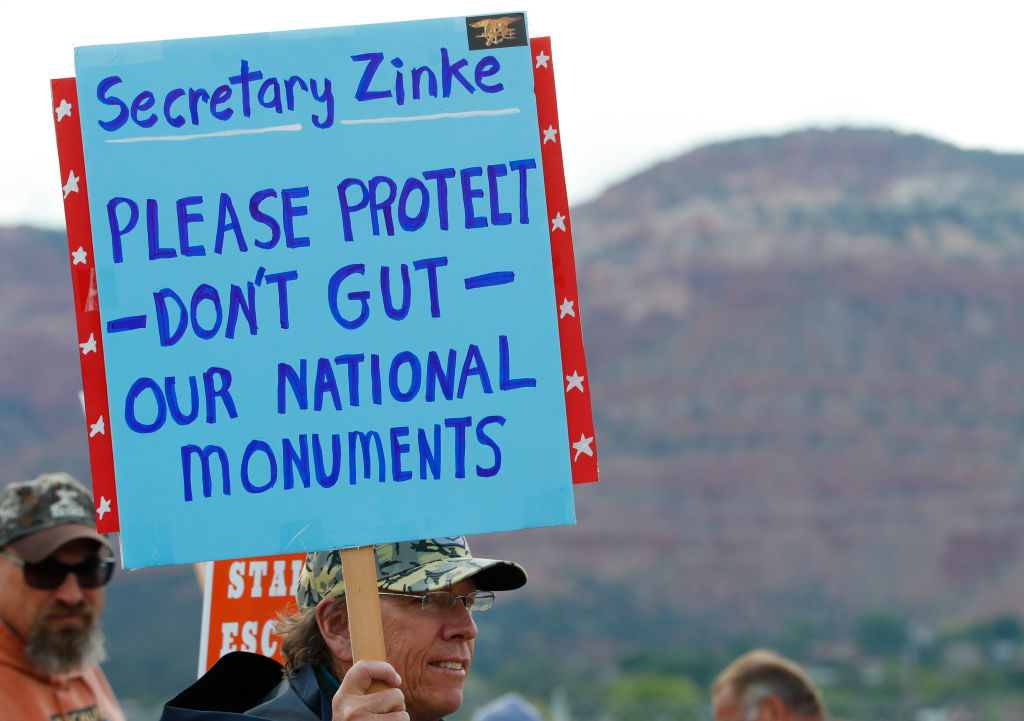 Protest National Park Reduction