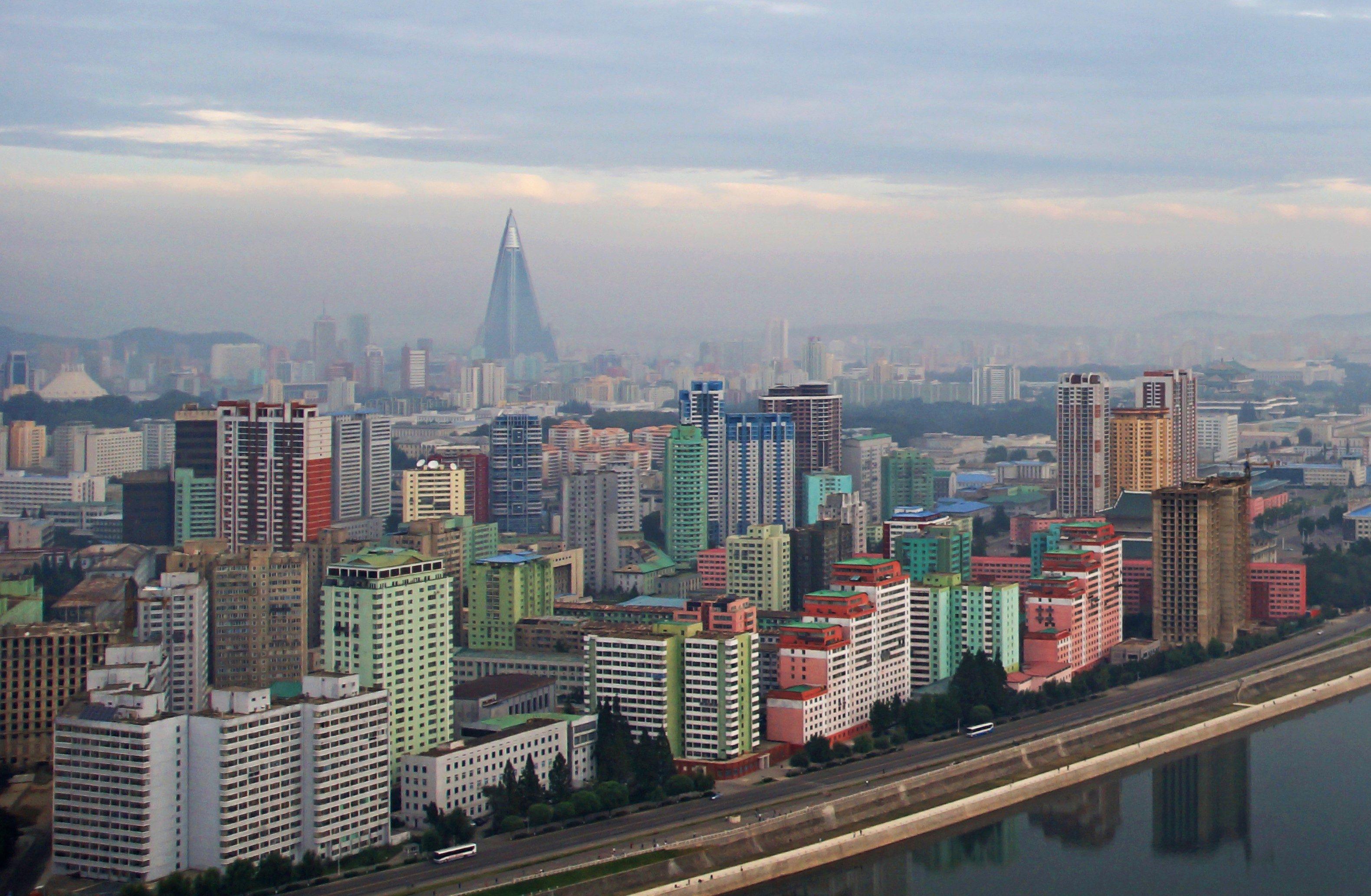 Panorama of Pyongyang and the Taedong-gang river