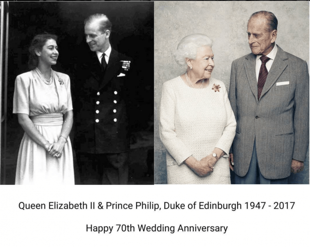 Queen Elizabeth and Prince Philip photographs.