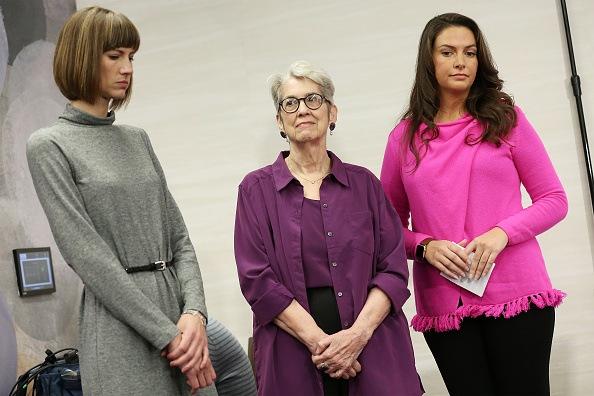 Rachel Crooks, Jessica Leeds and Samantha Holvey