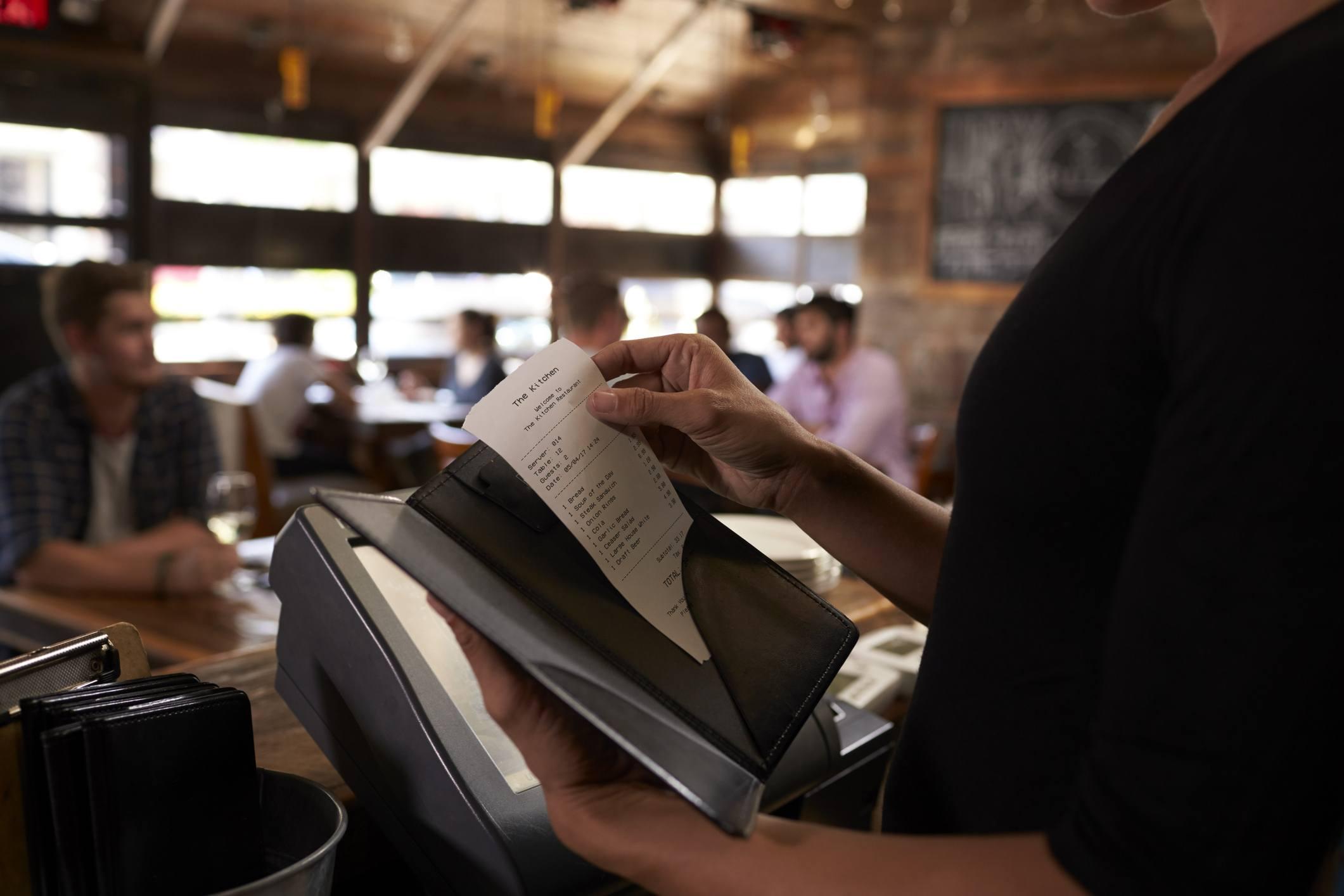 Restaurant bill check