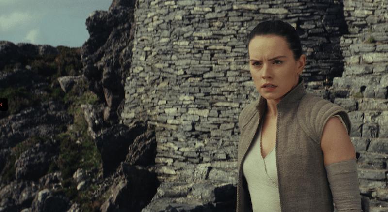 Rey in Star Wars: The Last Jedi