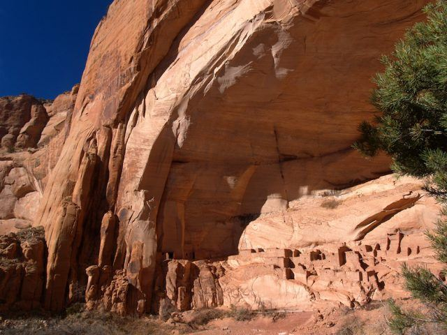 Ruins of cliff dwelling at Betatakin, Navajo National Monument.