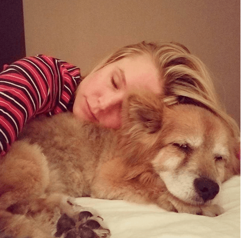 Kristen Bell and her dog Lola