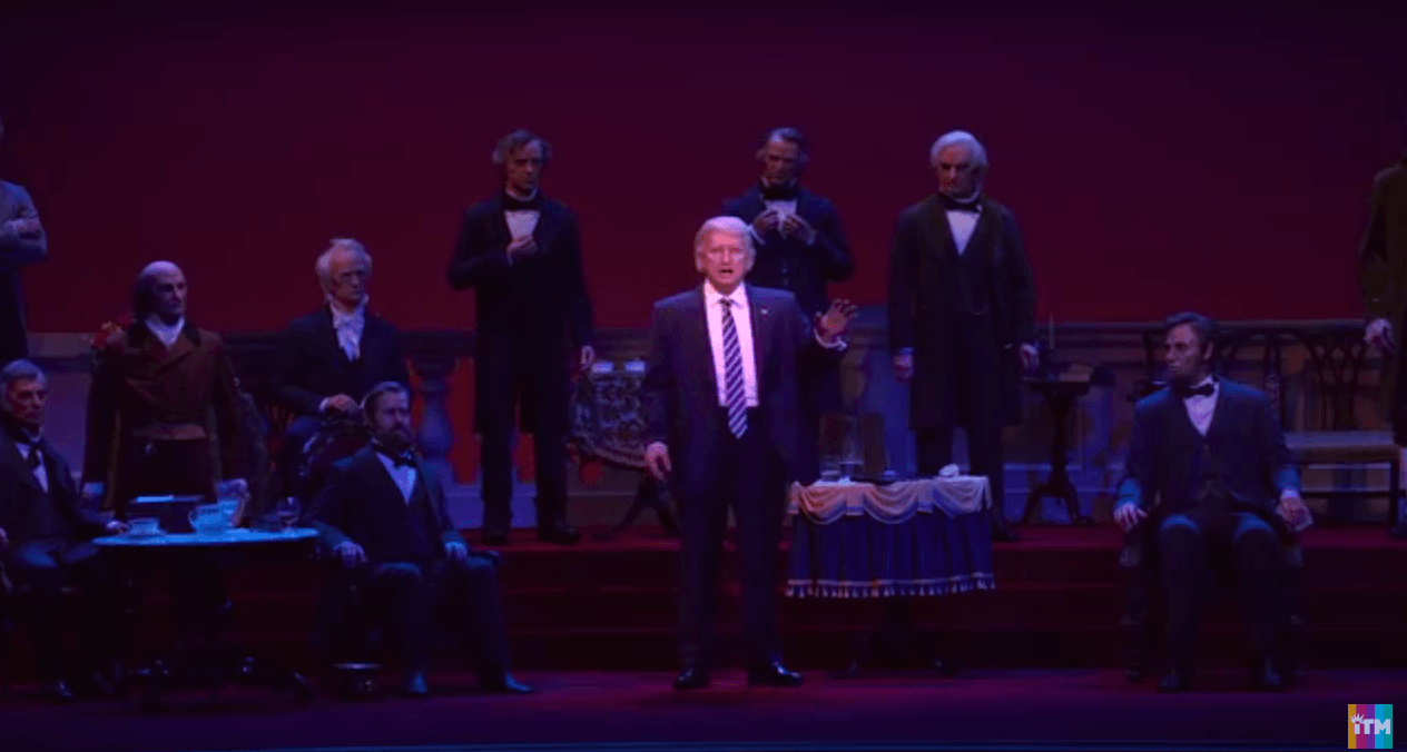 Trump robot with other presidents