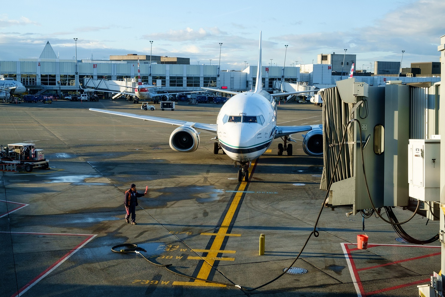 Airplane at Seattle Tacoma aiport