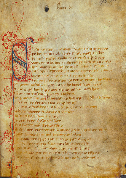 Sir Gawain and the Green Knight poetry page