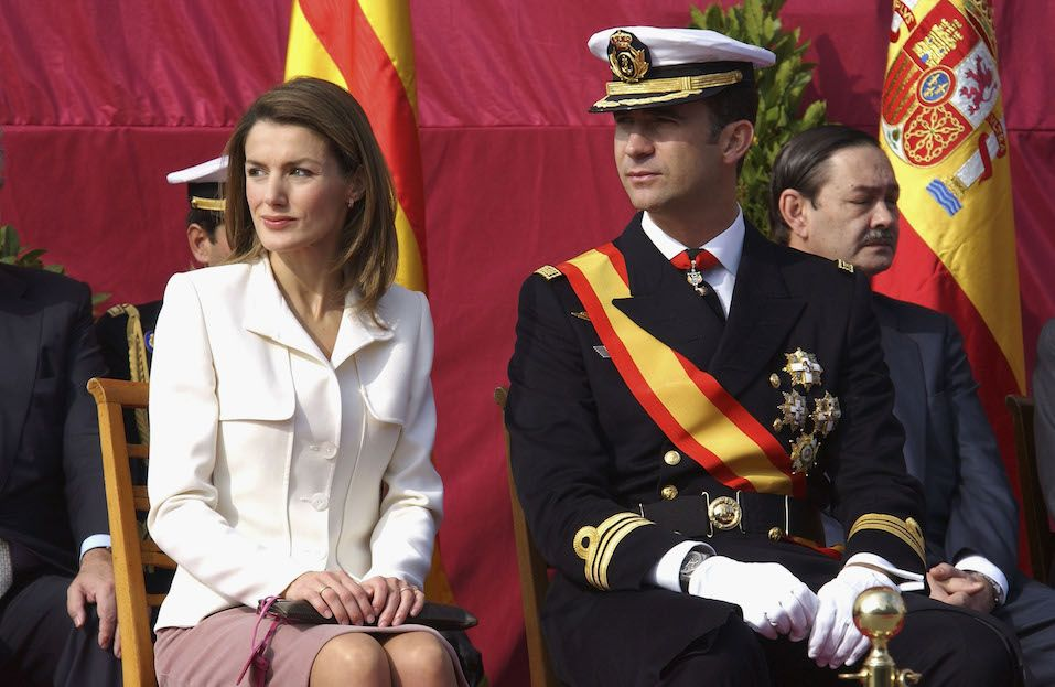 Princess Letizia and Crown Prince Felipe of Spain attend the presentation of the Combat Flag
