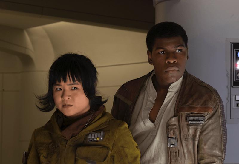 Rose and Finn in Star Wars: The Last Jedi