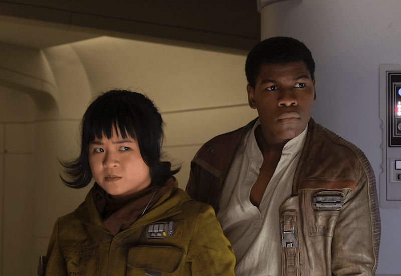 Rose and Finn in Star Wars: The Last Jedi