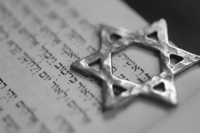 The Star of David on an open page.