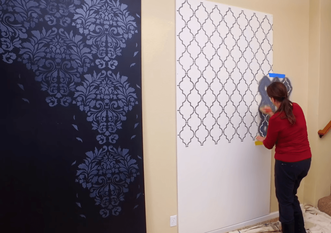Stencil Painting wall