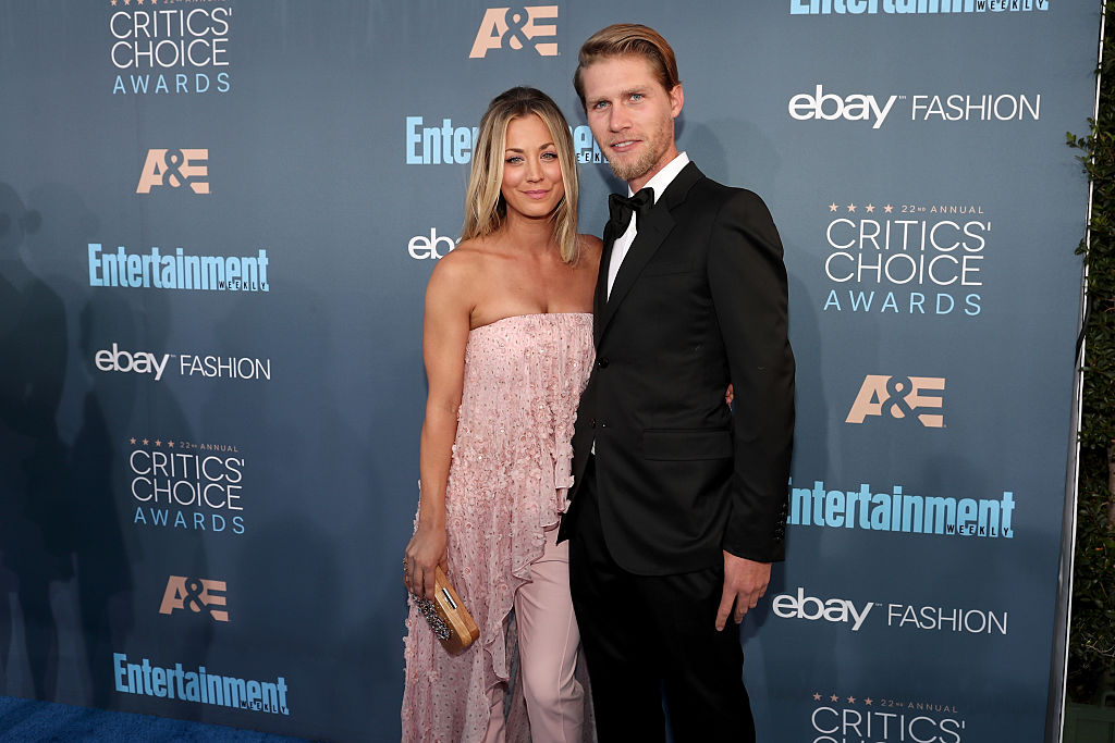 Actress Kaley Cuoco (L) and Karl Cook attend The 22nd Annual Critics' Choice Awards