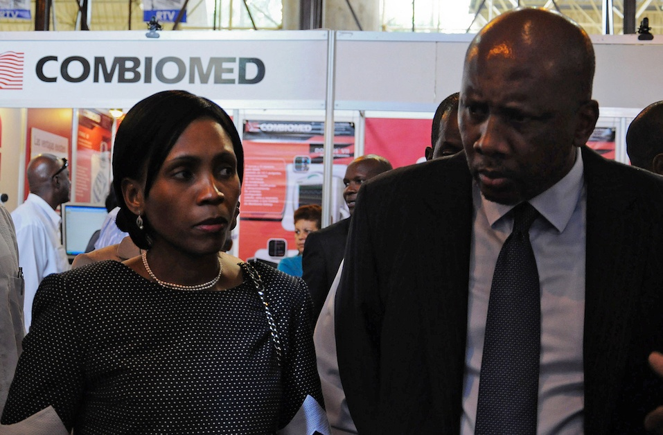 The King of Lesotho, Letsie III (R), visits the 29th Havana International Fair accompanied by his wife 'Masenate Mohato Seeiso