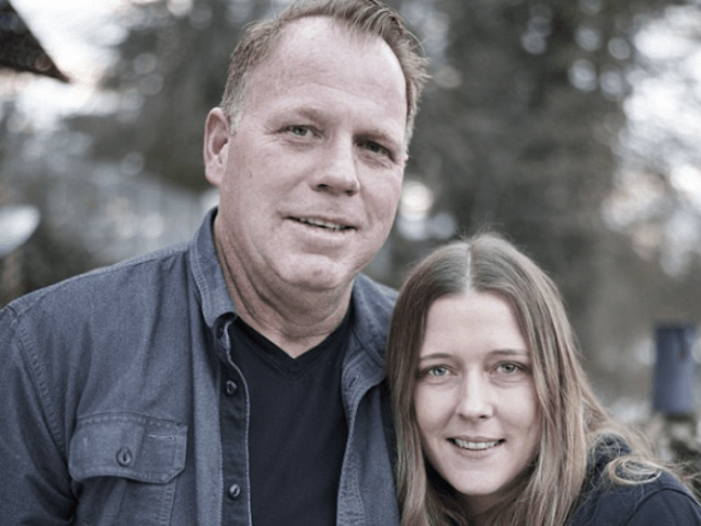Thomas Markle Jr standing with his girlfriend.