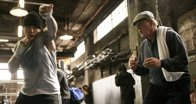 Tom Hardy during a fight scene in 'Warrior'.