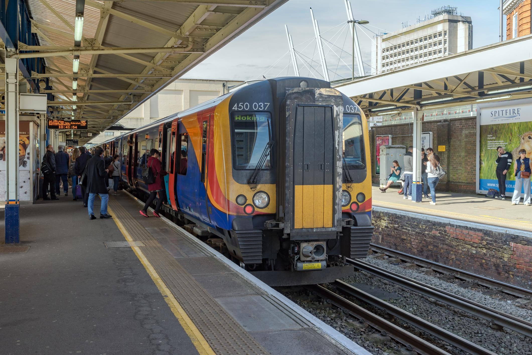 Londong South Western Railway train