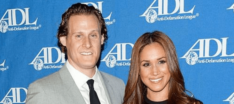 Trevor Engelson and Meghan Markle