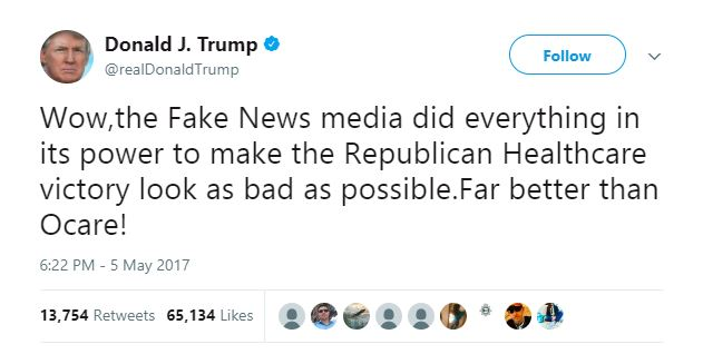 Donald Trump's Twitter account tells the story of 2017.