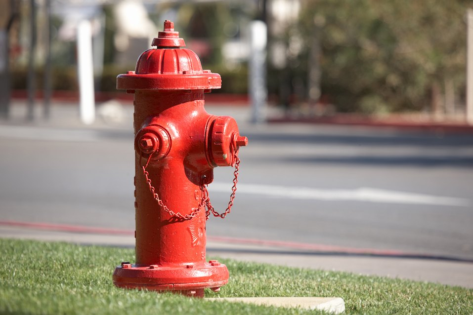 American red fire hydrant