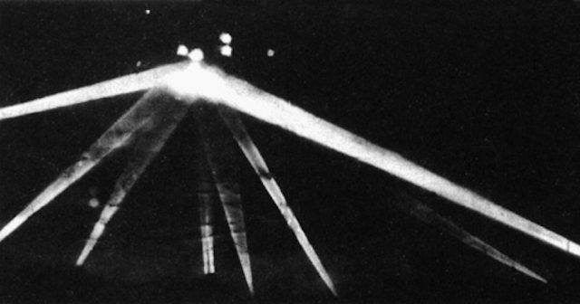 A black and white photograph of what many think is a saucer.