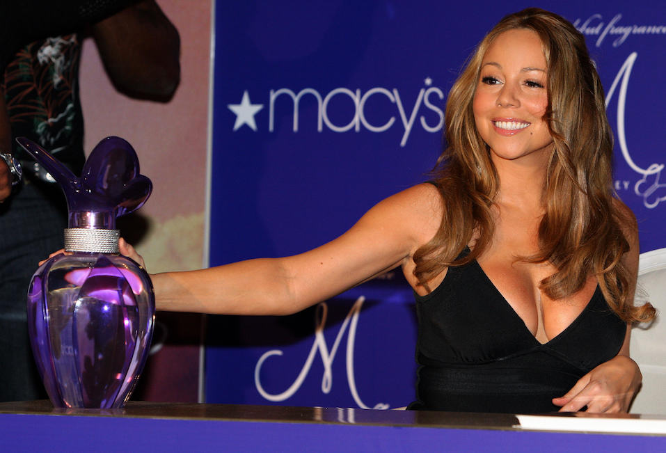 "Mariah Carey launches her debut fragrance ""M by Mariah Carey"" at Macy's department store"