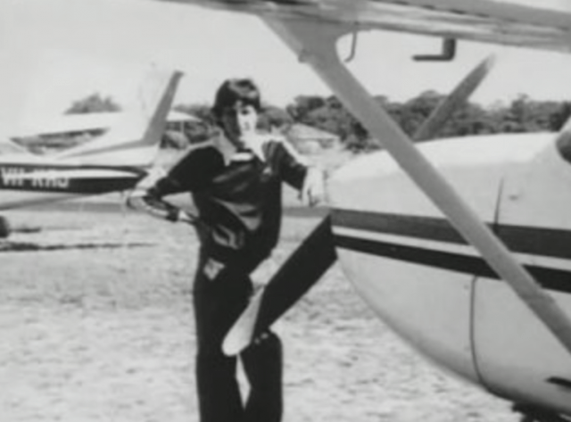 Fred Valentich standing in front of a plane.