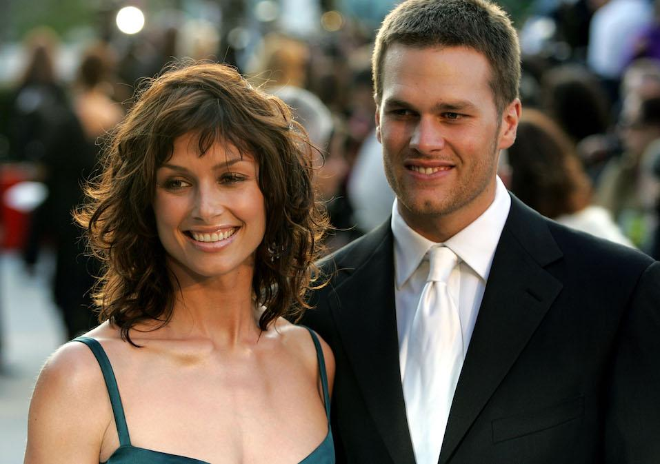 Actress Bridget Moynahan and quarterback Tom Brady and arrives at the Vanity Fair Oscar Party